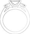 custom engagement ring sketch